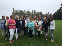 The group at Rough Point, Doris Duke's former home